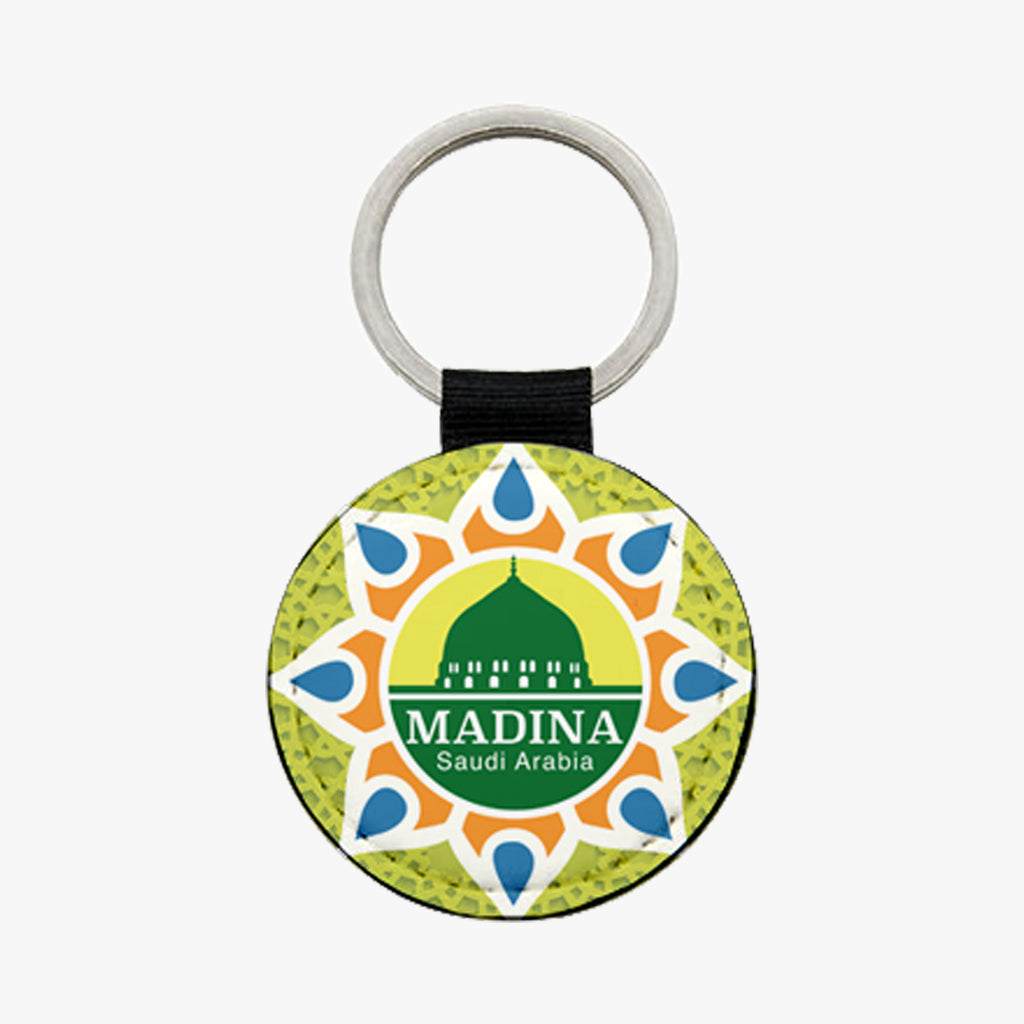 Madina Leather Keychain - Green - BabMakkah Stores