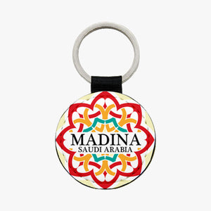 Madina Leather Keychain - Red - BabMakkah Stores