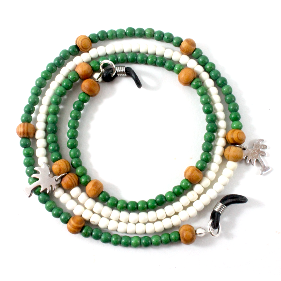 Howlite with Agate & 925 Sterling Silver - Eyewear Chain - BabMakkah Stores