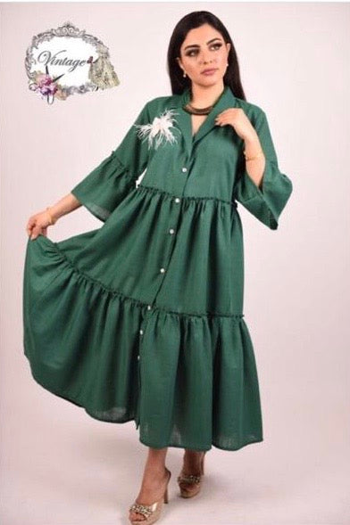 Vintage layered dress By Vintage Fashion - BabMakkah Stores