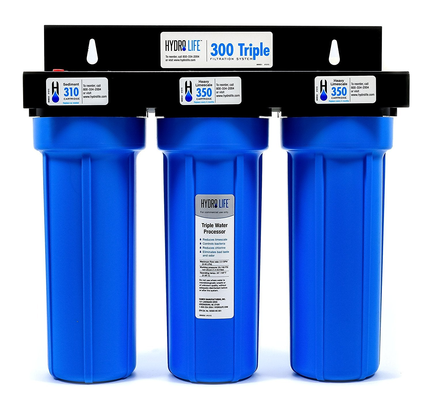 Hydro-Life-52644-300-Series-Model-300-Triple-Filtration-System