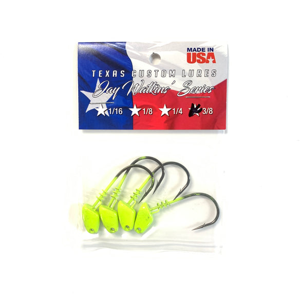 Texas Custom Lures Jighead- Chartreuse (Multiple Sizes)