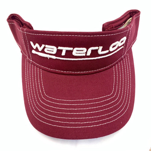 GameGuard Maroon and White Visor