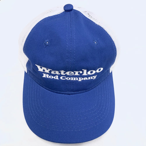 Royal Blue and White Unstructured Waterloo Cap
