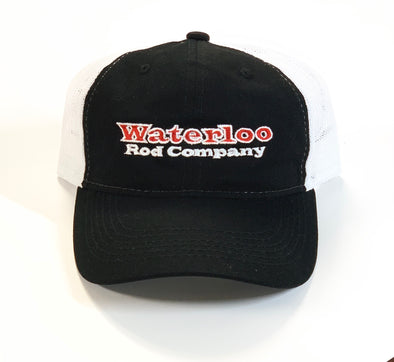 Black and White Unstructured Waterloo Cap