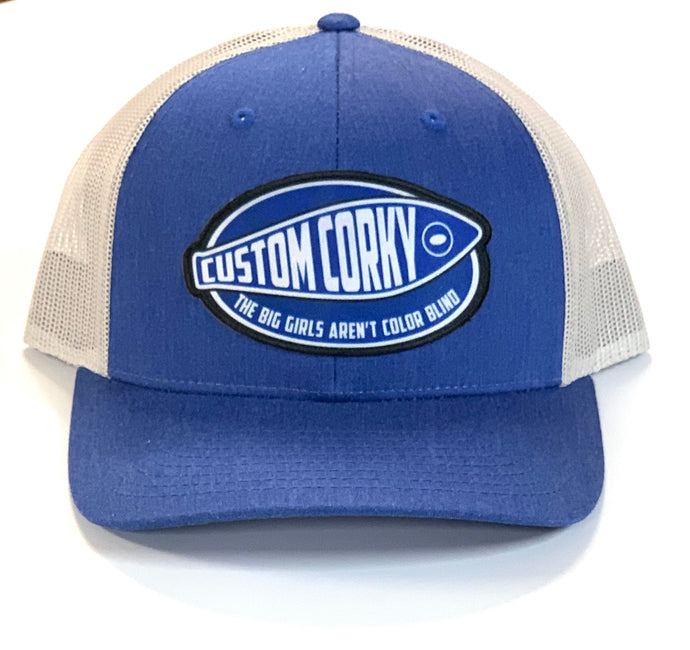 Heather Blue Custom Corky Cap