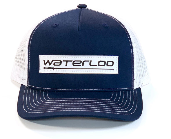 Navy and White Waterloo Cap