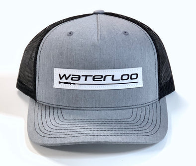 Waterloo Heather Grey and Dark Charcoal Patch Cap