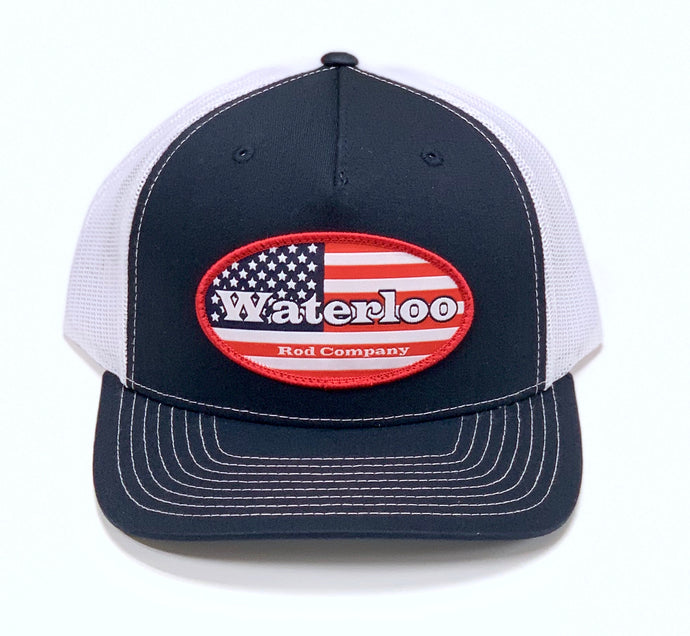 Navy and White American Flag Cap