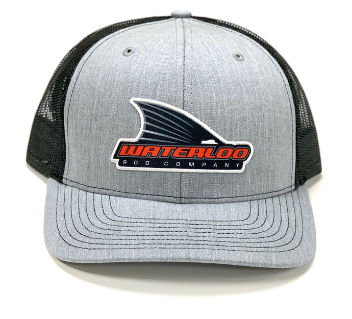 Waterloo Heather Gray and Black Tails Up Patch Cap