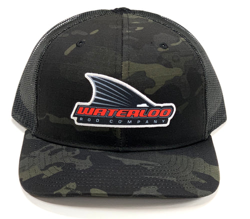 Waterloo Black Camo Tails Up Patch Cap