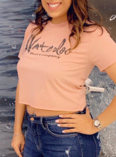New Waterloo Ladies Crop Top Shirt (Multiple Colors)