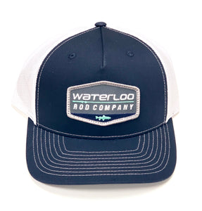 Waterloo Navy and White Patch Cap