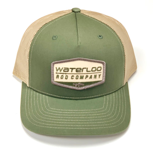 Waterloo Army Olive and Tan Patch Cap