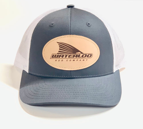 Waterloo Charcoal/White Leather Patch Cap