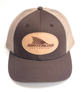 Waterloo Brown/Khaki Leather Patch Cap