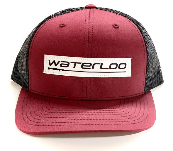 Waterloo Patch Cap Maroon and Black