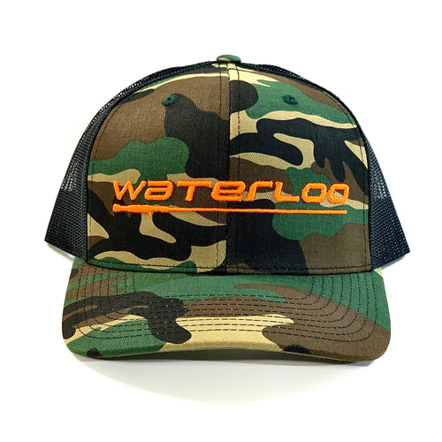 Waterloo Green Camo and Black Cap