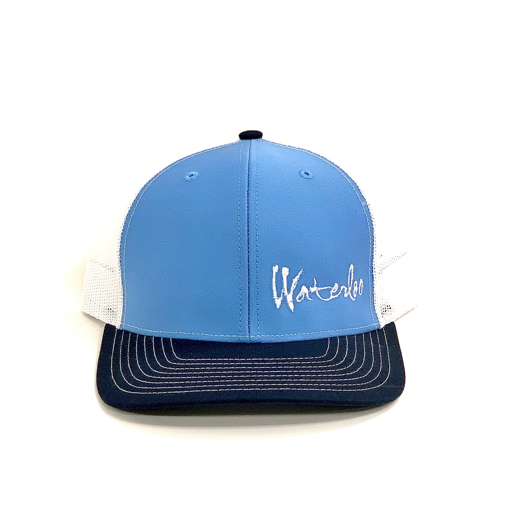 Light Blue and White Waterloo Cap