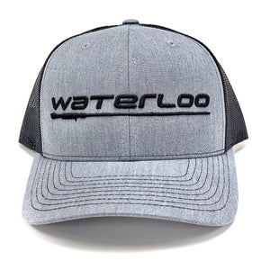 Waterloo Heather Grey and Black Cap - Black Logo