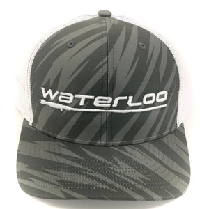 Charcoal Camo and White Waterloo Cap