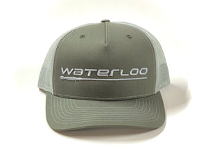 Waterloo Grey Green Cap-Performance Logo