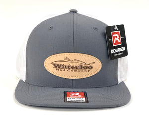 Waterloo Charcoal and White Flat Bill Snapback Cap