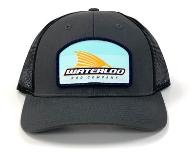 Waterloo Charcoal and Black Tails Up Patch Cap- New Patch