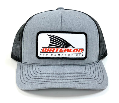 Waterloo Heather Grey and Charcoal Tails Up Patch Cap - R115