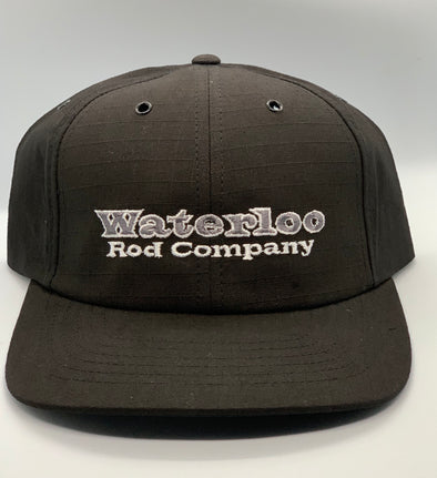 Waterloo Black Cap - Grey Original Logo
