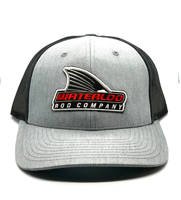 Waterloo Heather Grey and Black Tails Up Patch Cap - R112