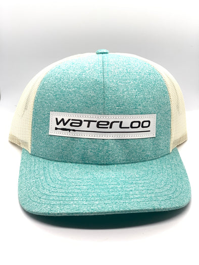 Waterloo Heather Teal Performance Patch Cap