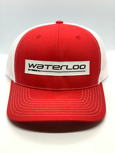 Waterloo Red and White Performance Logo Patch Cap