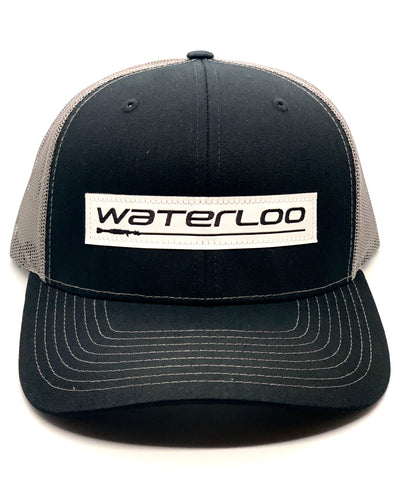 Waterloo Black and Charcoal Performance Patch Cap