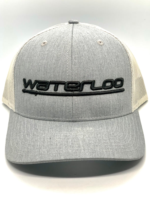 Waterloo Grey Cap with Black Performance Logo