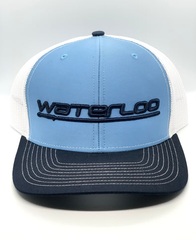 Waterloo Light Blue and White Cap