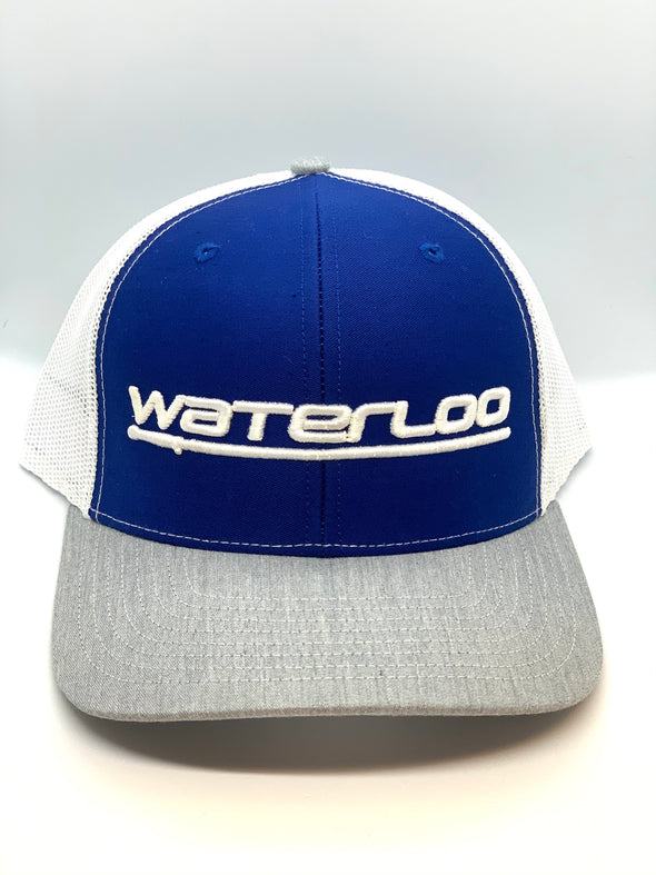 Waterloo Royal Blue White and Grey Performance Cap