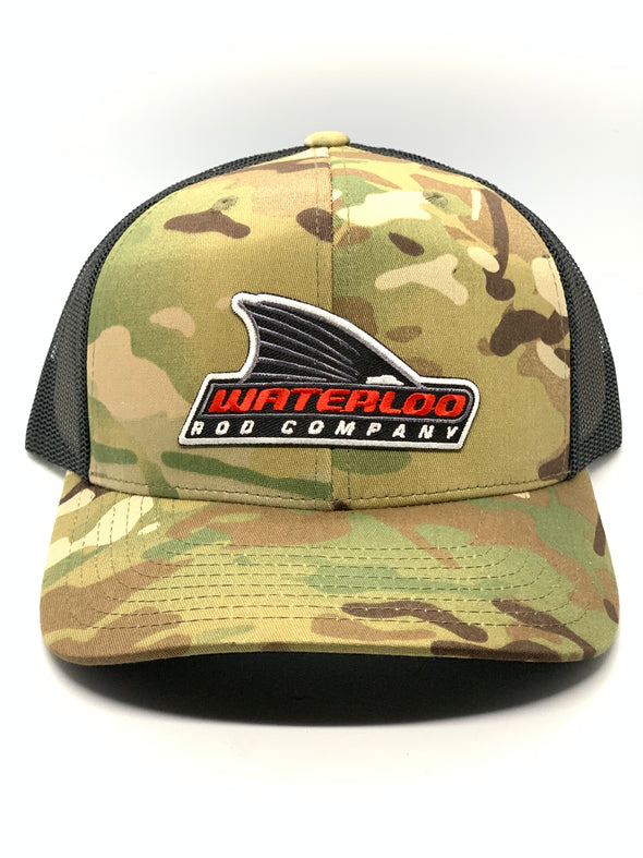 Waterloo Camo Tails Up Patch Cap  - Camo and Black