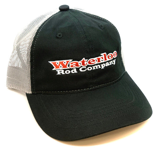 Waterloo Black and Charcoal Unstructured Cap - Red and White Original Logo