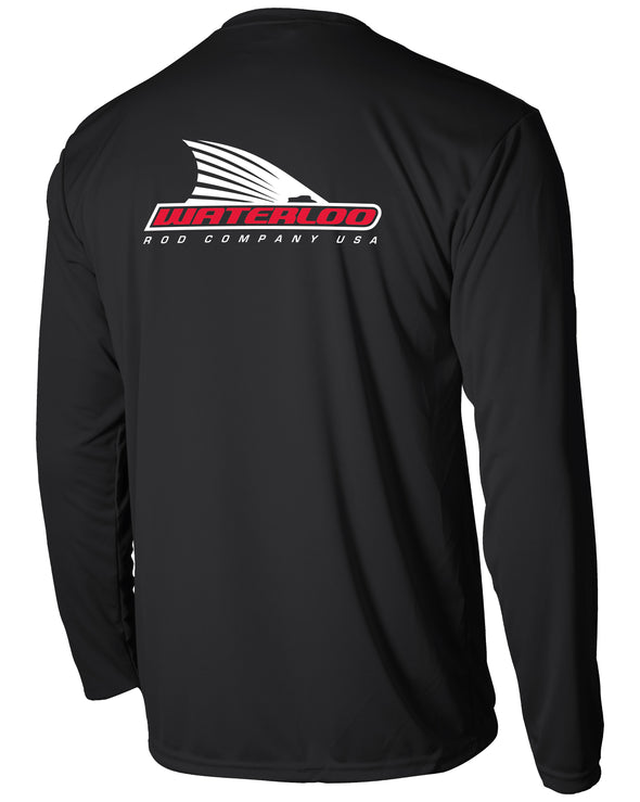 Youth Waterloo Black Performance Shirt- Tails Up Logo