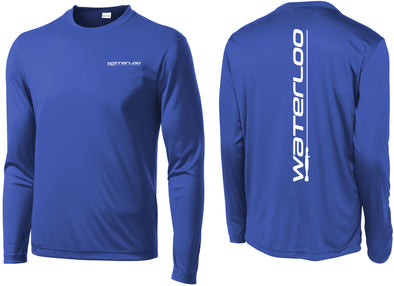 Waterloo True Royal Blue Performance Long Sleeve Adult and Youth Shirt