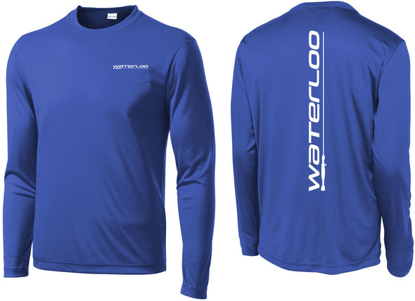 Waterloo True Royal Blue Performance Long Sleeve Youth Shirt