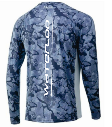 HUK LoPro Camo Long Sleeve - Dark Blue Camo