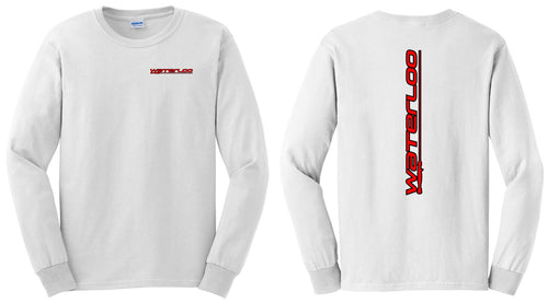 White Cotton Long Sleeve Waterloo T-Shirt