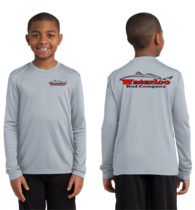 Waterloo Youth Redfish Performance Shirt - Silver