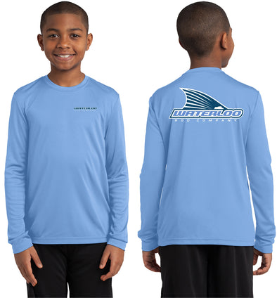 Waterloo Youth Tails Up Performance Shirt - Carolina Blue