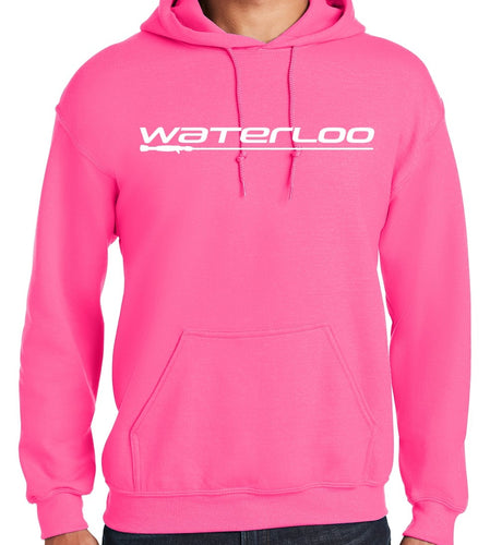 Hot Pink Pullover Hooded Sweatshirt