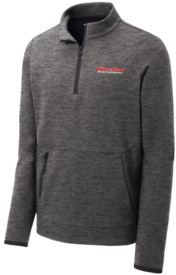 Waterloo Pullover Half-Zip Jacket- Dark Heather Grey