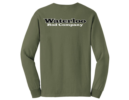 Waterloo Army Green Long Sleeve Shirt
