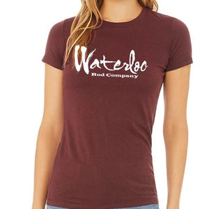 Women's Heather Maroon Short Sleeve Shirt